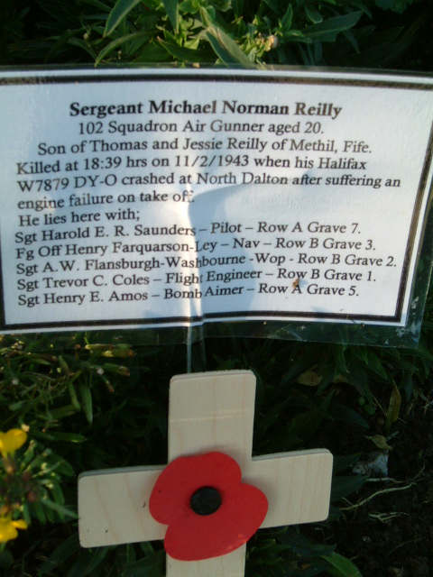 Michael Norman Reilly at  St. Catherines, Barmby Moor on Rem Sunday 2011 - 102 Ceylon Squadron
