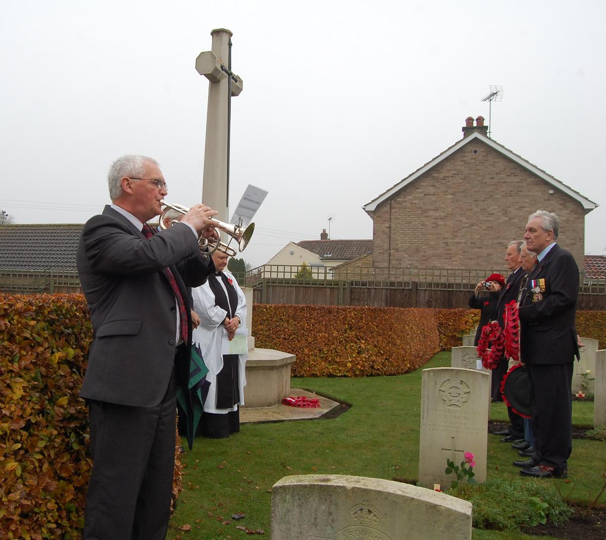 Last Post at  St. Catherines, Barmby Moor on Rem Sunday 2011 - 102 Ceylon Squadron