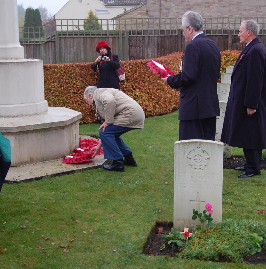 Wreath Laying  at  St. Catherines, Barmby Moor on Rem Sunday 2011 - 102 Ceylon Squadron
