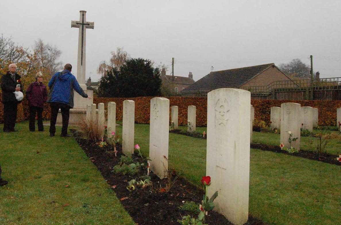 Squadron Leader Sydney Bintley at St. Catherines, Barmby Moor on Rem Sunday 2011 - 102 Ceylon Squadron
