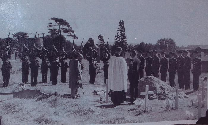 The funeral in Pocklington of a Squadron member.