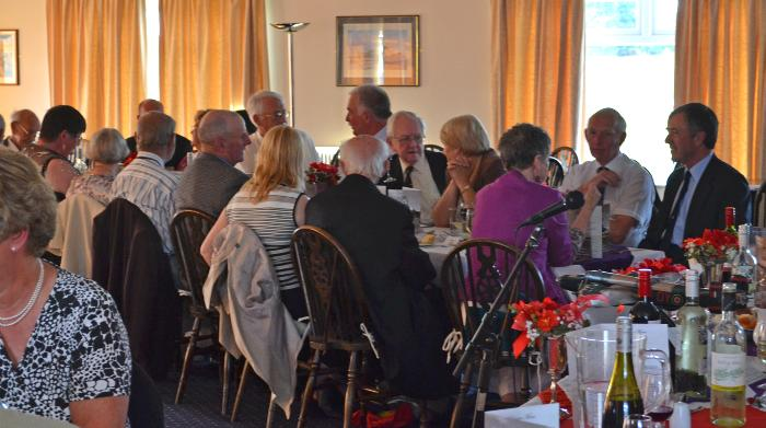 The everning meal held at the Wolds Gliding Club